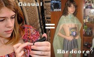 Casual vs Hardcore Gamers