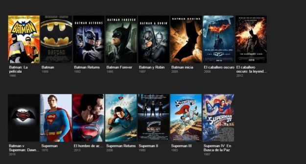 Todas las películas de Batman y Superman hasta 2016