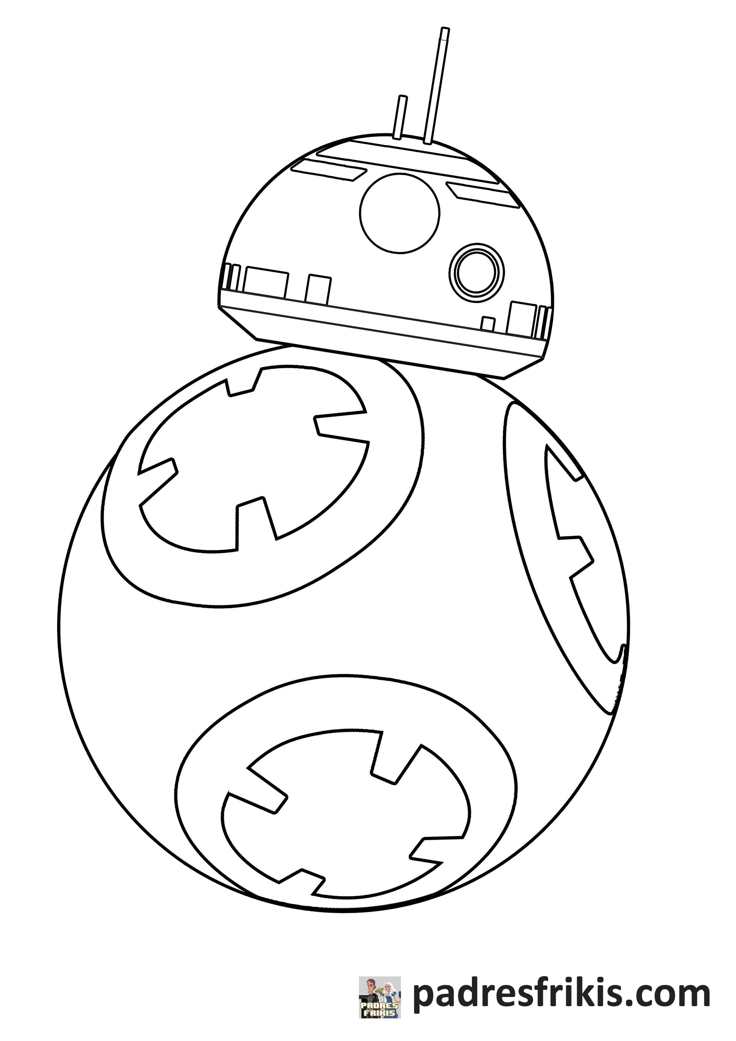 Dibujos para colorear online   Star Wars   BB 8