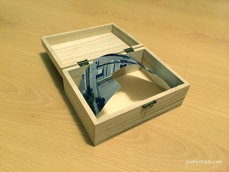 Caja secreta con mapa escondido