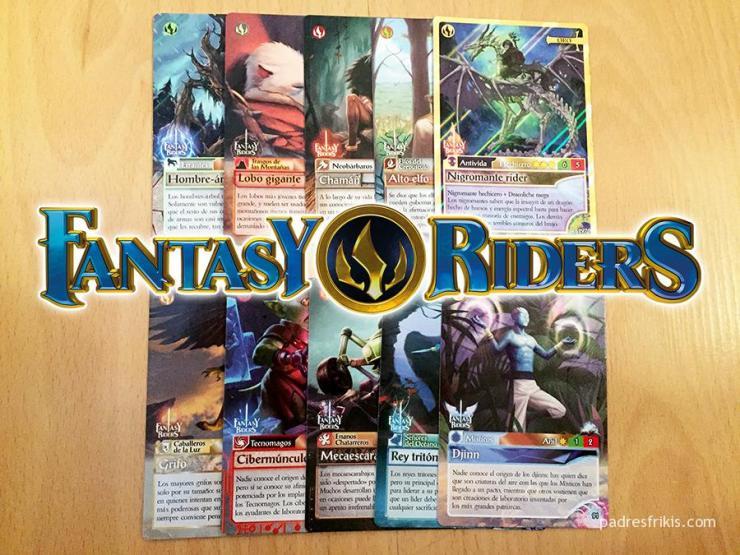 Fantasy Riders cartas de Panini