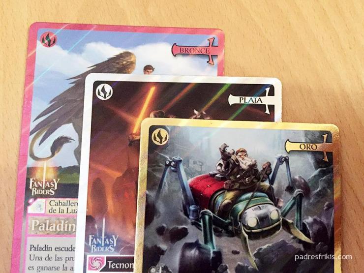 Cartas oro, plata y bronce de Fantasy Riders