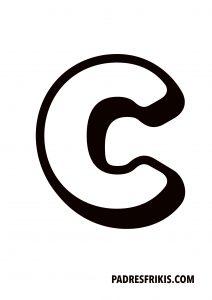 Letra C para imprimir en mayúscula
