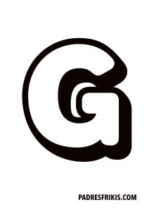 Letra G para imprimir en mayúscula