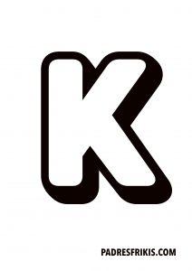 Letra K para imprimir en mayúscula
