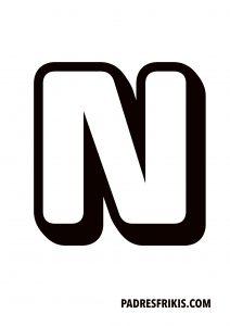 Letra N para imprimir en mayúscula