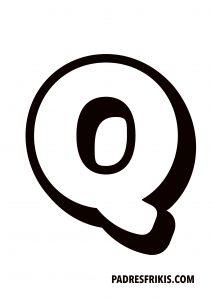 Letra Q para imprimir en mayúscula
