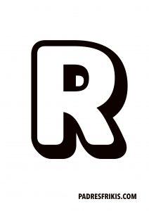 Letra R para imprimir en mayúscula