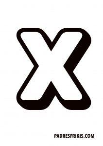 Letra X para imprimir en mayúscula