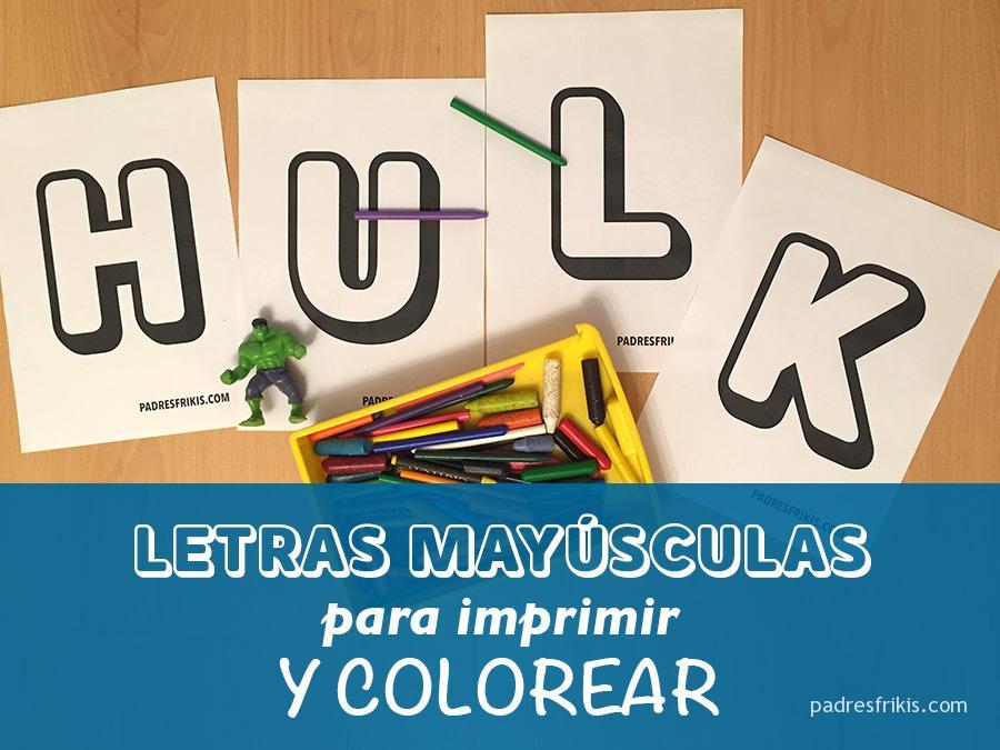 Plantillas de letras mayúsculas grandes para imprimir y colorear gratis