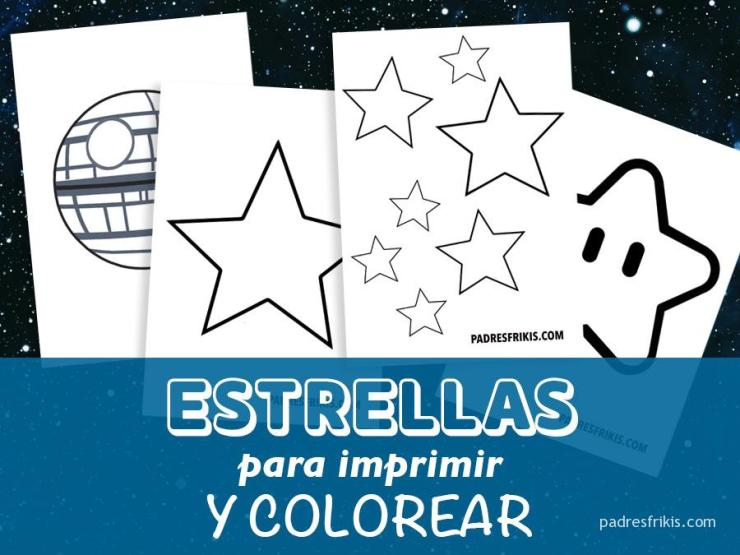 Plantillas con dibujos de estrellas para imprimir y colorear