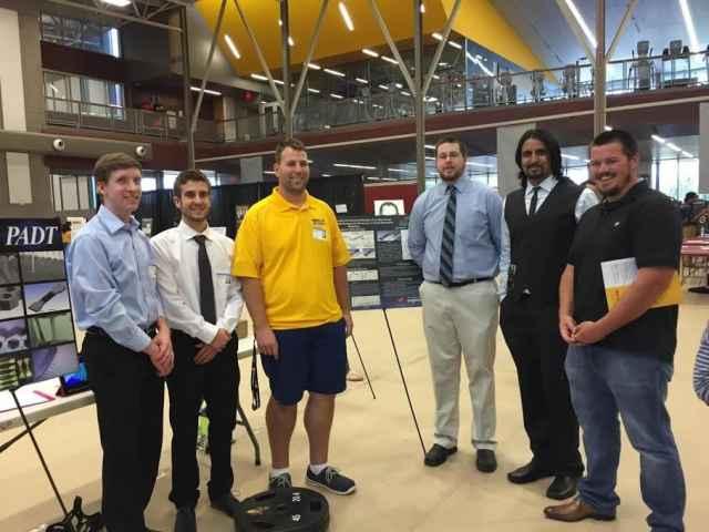The ASU Capstone team (left to right): Drew Gibson, Jacob Gerbasi, John Reeher, Matthew Finfrock, Deep Patel and Joseph Van Soest.