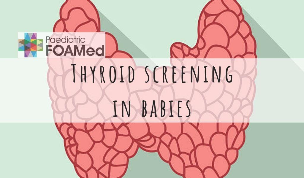 Neonatal thyroid screening