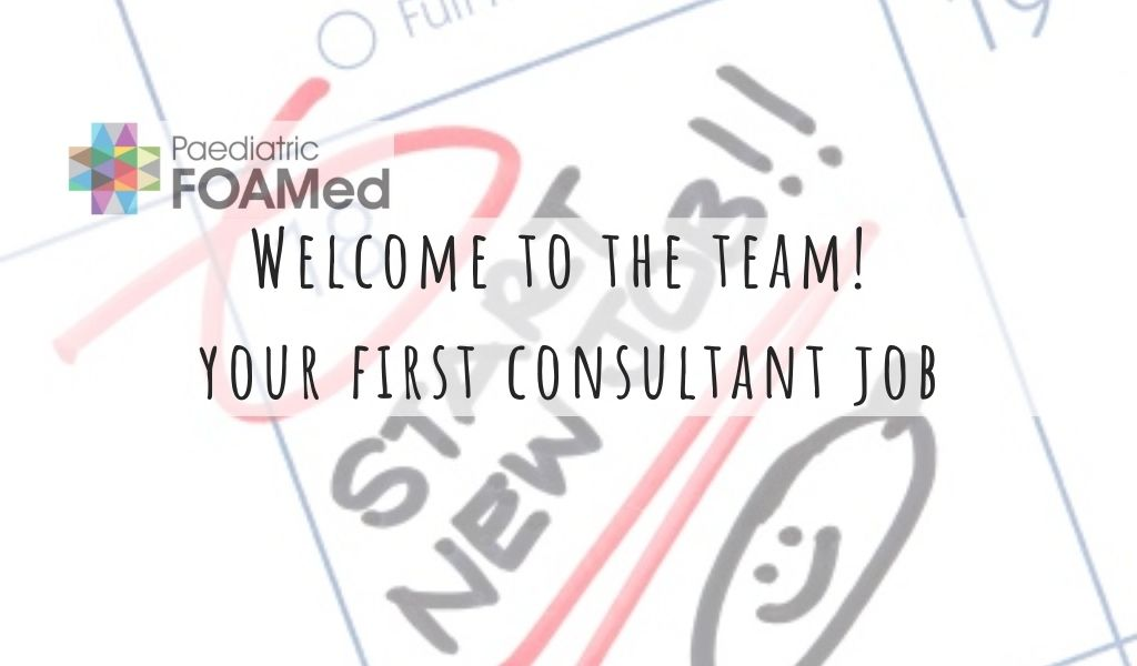 Congratulations and welcome to the team! Your first Consultant Job