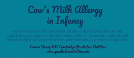 identifying the symptoms of cow's milk allergy - Paediatric Nutrition