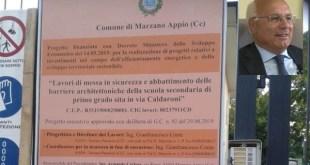 Marzano Appio – Partono i lavori nella scuola di via Caldaroni, primo passo dell'amministrazione Conca