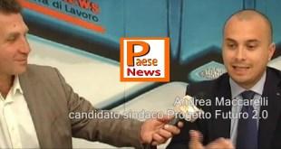 """PRESENZANO / MACCARELLI PRESENTA IL SUO """"PROGETTO FUTURO 2.0"""", Venerdi 25 MAGGIO 2018"""
