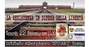 """Teano/Cellole – """"La resistenza in difesa della Libertà"""", conferenza contro il razzismo all'Alberghiero di Teano-Cellole con il patrocinio dell'Università del Molise"""