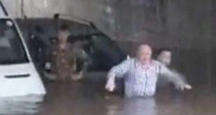 Capua / Pastorano / Bellona / Caserta – Piove forte, i paesi diventano come Venezia