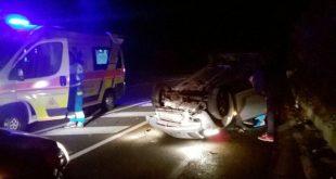 Piedimonte Matese – Si ribalta con l'auto lungo la provinciale, anziano ferito