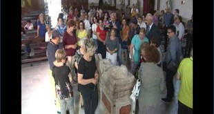 Francolise – La copia del Cristo Velato nella parrocchia di San Germano  (guarda il video con le interviste)