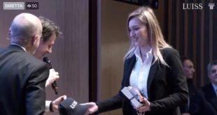 Pietramelara / Roma – Luiss, conferenza Europa e futuro: Adele De Ponte 'interroga' il primo ministro Conte (guarda il video)