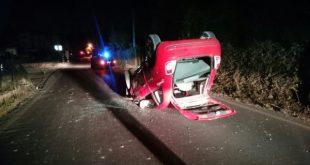 Piedimonte Matese – Auto ribaltata lungo viale Libertà, donna ferita