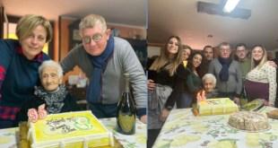 Grazzanise – Festa in casa Raimondo per i 95 anni di nonna Giuseppina