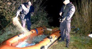CAPUA – Pesca di frodo, sorpresi due bracconieri ittici romeni nella notte