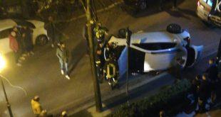 Piedimonte Matese – Auto ribaltata in centro, donna in ospedale. E' in stato confusionale (il video dei soccorsi)