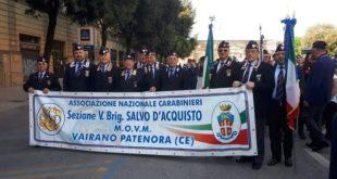 VAIRANO PATENORA – XXIV Raduno Nazionale dell'associazione Carabinieri: presente la sezione della città