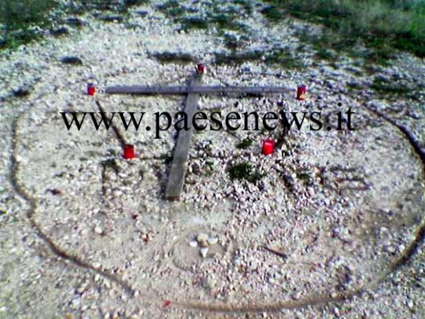 tracce di riti satanici su monte Cajevola
