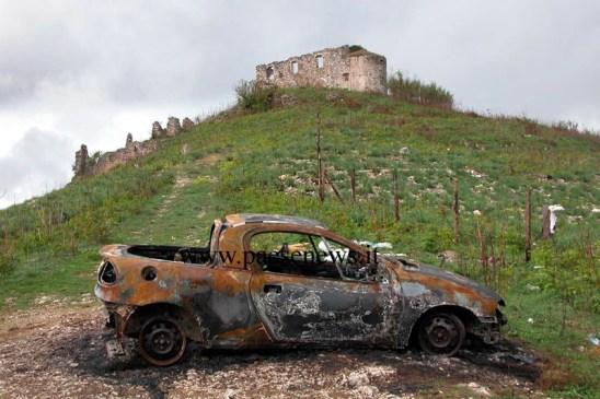 L'auto di Ubert bruciata qualche giorno prima del delitto