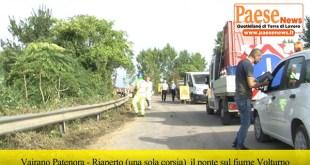 VAIRANO PATENORA / PRATELLA / AILANO – Riapertura parziale alla circolazione stradale del Ponte sul fiume Volturno (Guarda il video)
