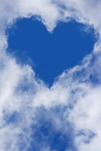 heart clouds sky