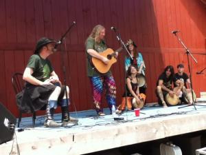 With Arthur Hinds, Celia Farran and Tuatha Dea - PSG 2011, USA