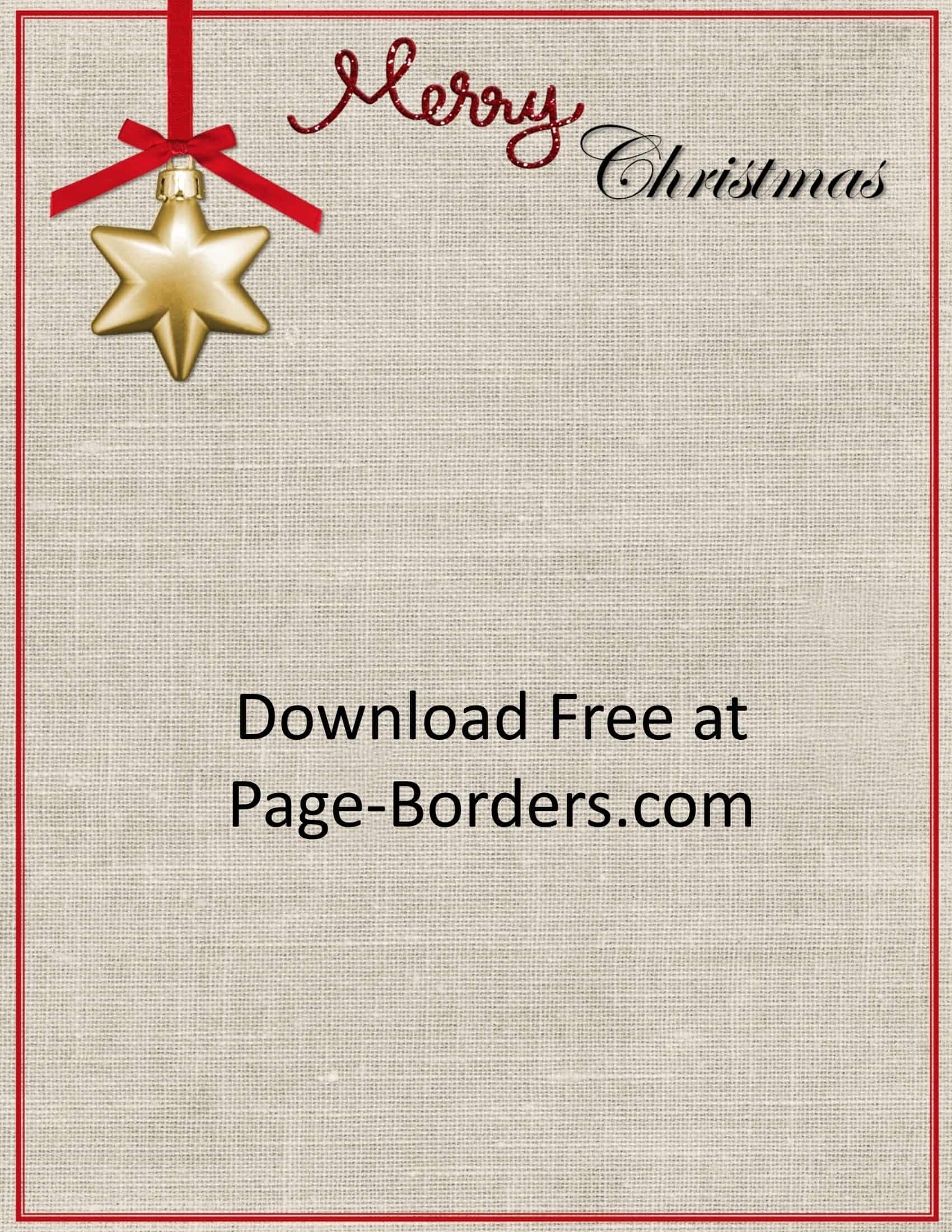 Free Christmas Border Customize Online Personal