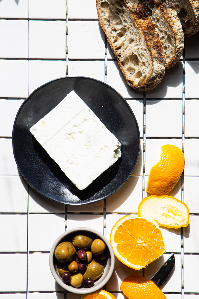 Baked Feta With Olives Page Plate