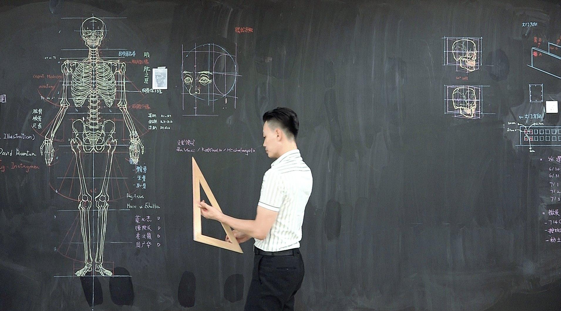 「人體透視圖」畫得比3D骨架還狂! 臺灣講師爆紅國外:長超帥又有才 - PageCup