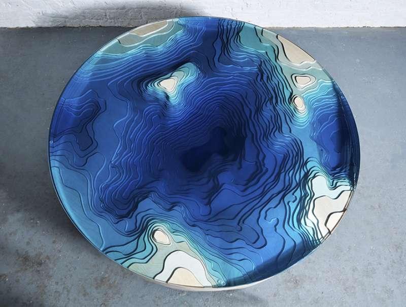 「深海咖啡桌」的美連靈魂都會被吸進去 零瑕疵的完成品過目難忘 - PageCup