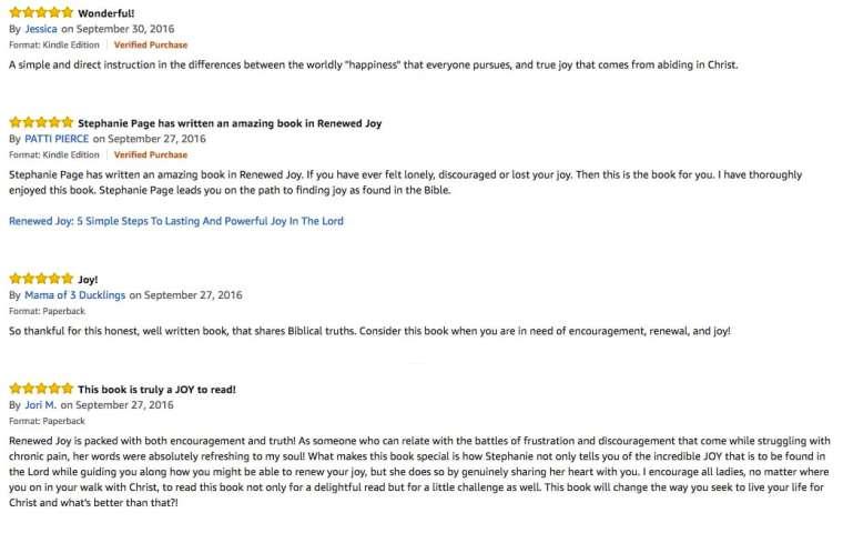 Renewed Joy Reviews 3