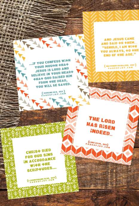 Free Printable Kids Easter Verse Cards