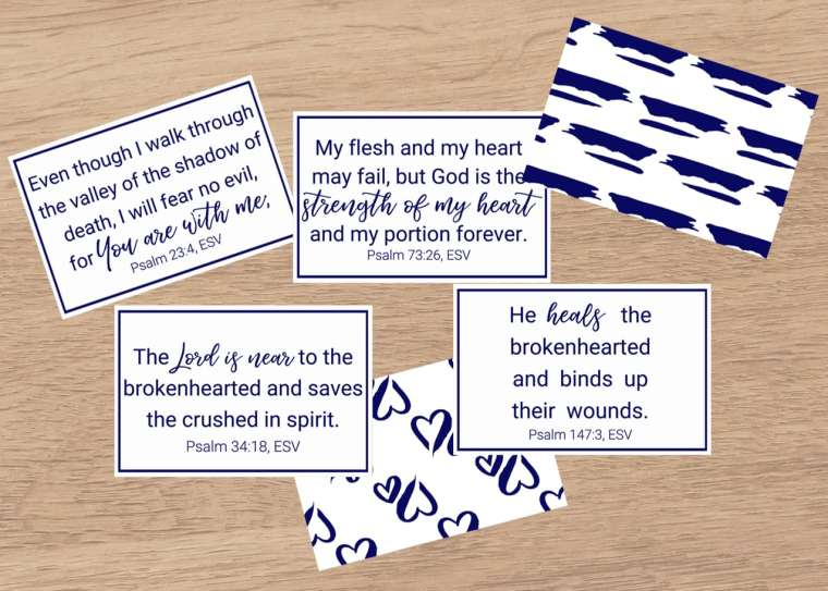 Psalms for Grief cards scene 2