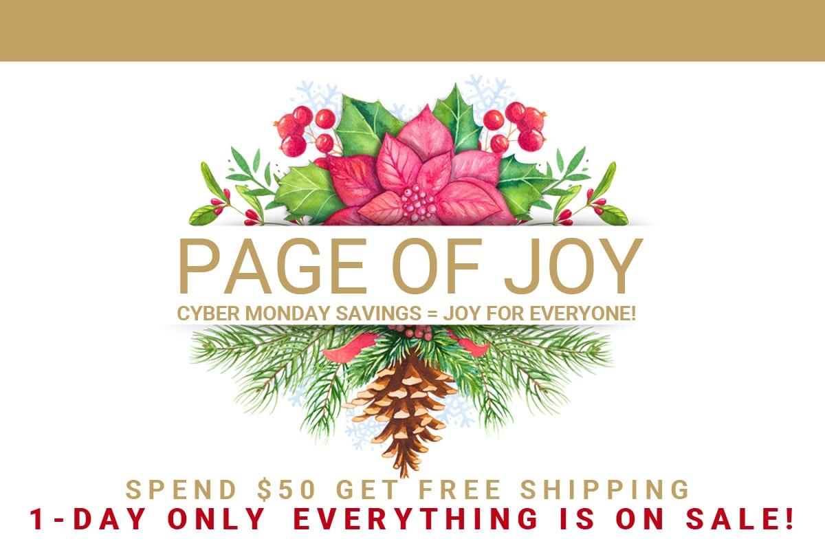 Joyful Cyber Monday | Page of Joy