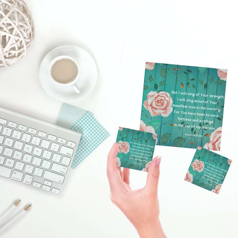 psalm 59:16 loved verse free printable card