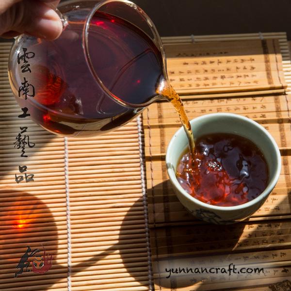 Medium fermented shu puer-color