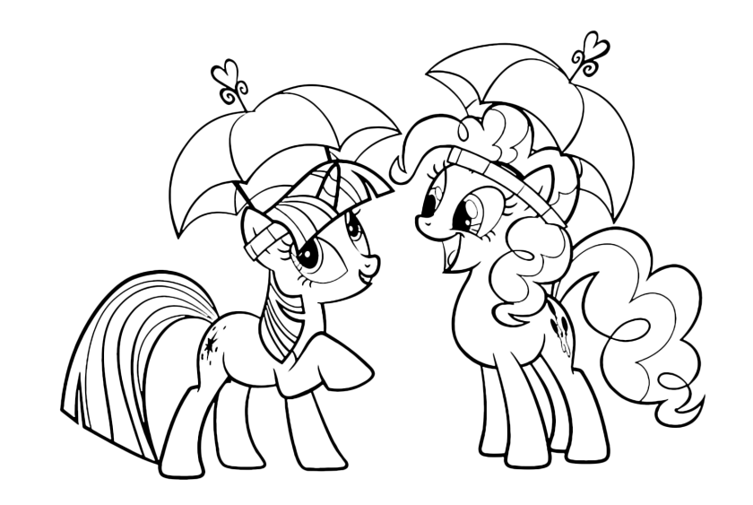 my little pony  twilight sparkle and pinkie pie  an