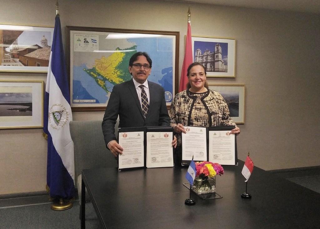 Ouverture de relations diplomatiques avec le Nicaragua
