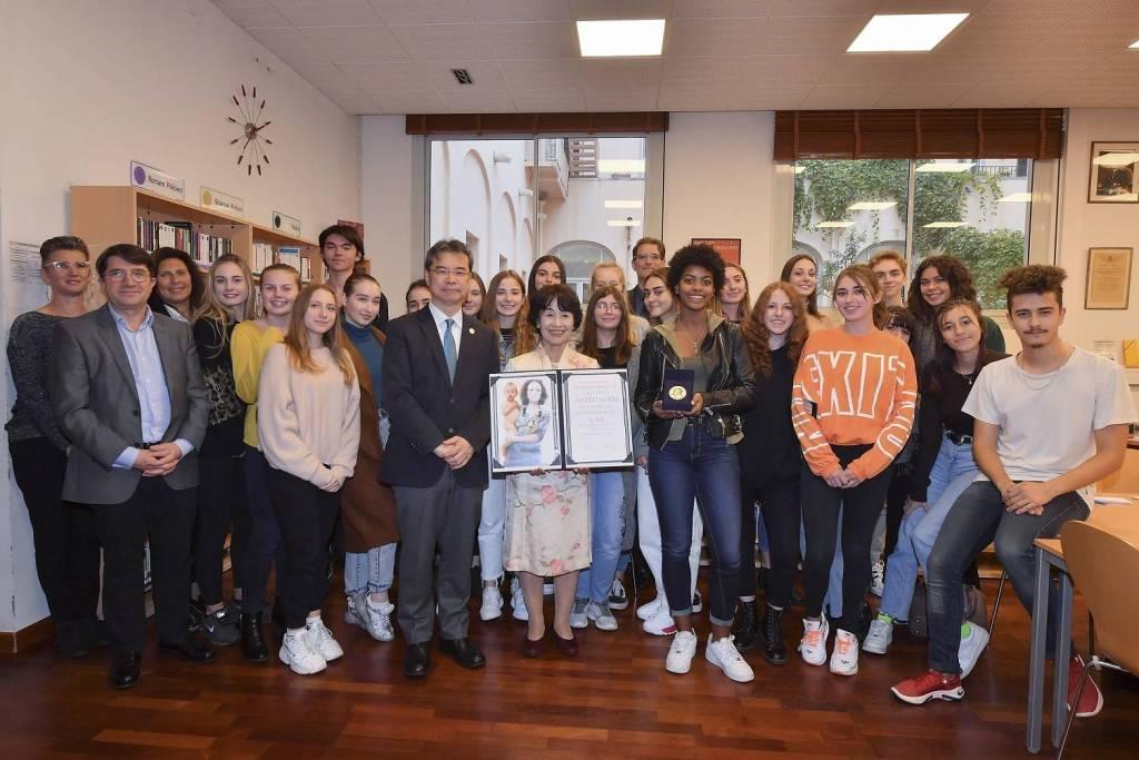 Les élèves du Lycée Albert 1er rencontrent une survivante d'Hiroshima