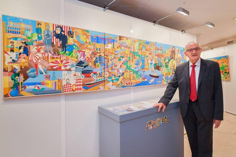 « Au fil du temps» le Monaco naïf de Claude Gauthier